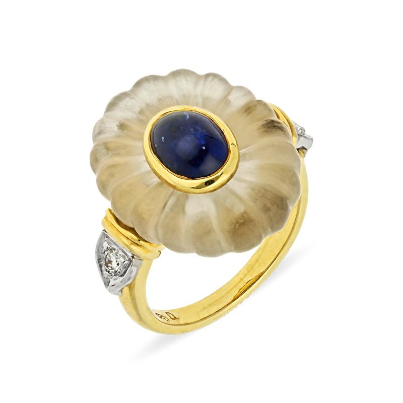 Bergkristall-Ring Bicolor
