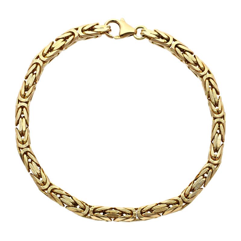 Königsketten-Armband Gelbgold