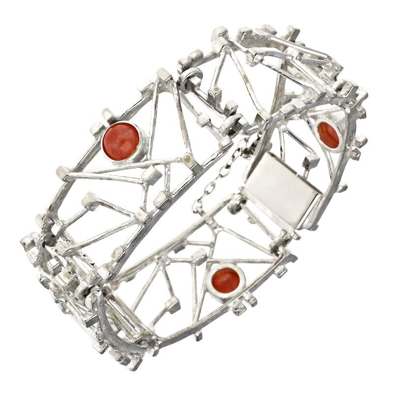 Rhodochrosit-Armband Silber