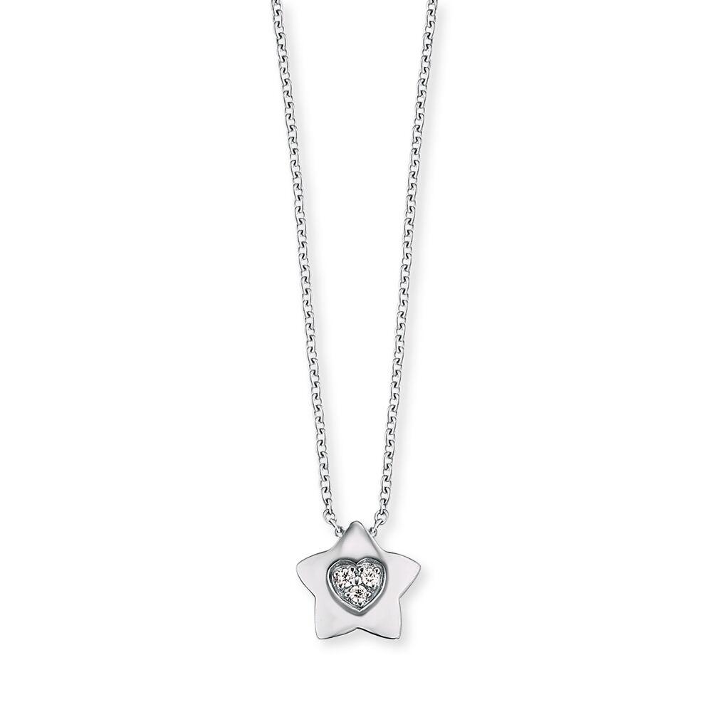 Herzengel Kette mit Stern-Anhänger Silber