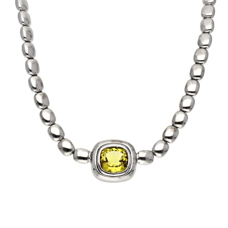 Citrin-Collier Weißgold