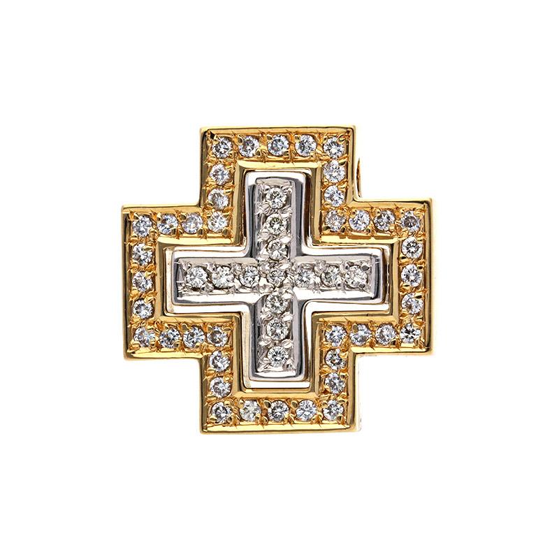 Brillant-Kreuz Bicolor
