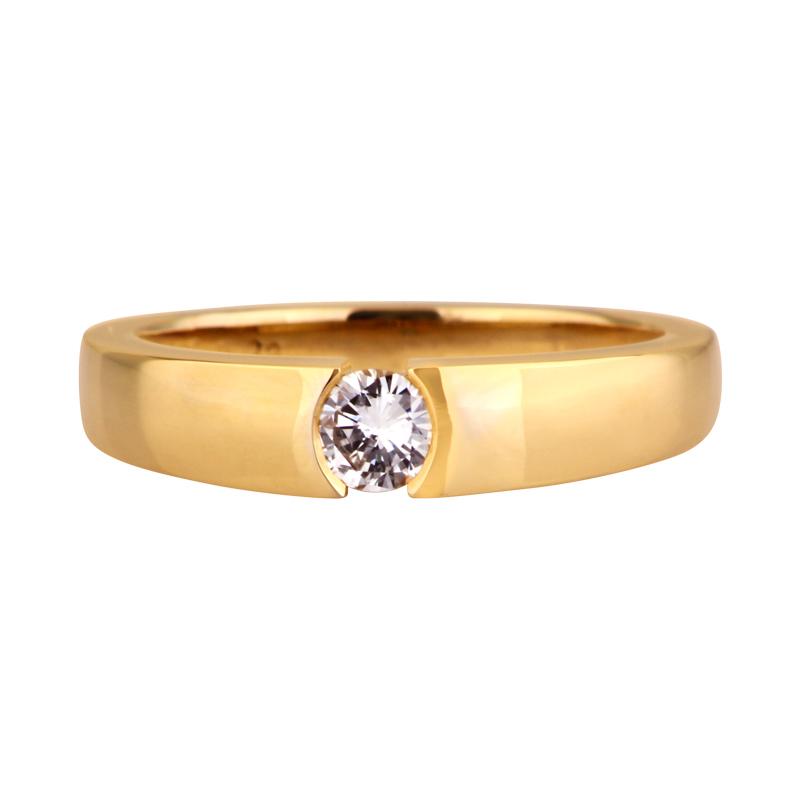 Brillant-Ring Gelbgold 0,26 ct
