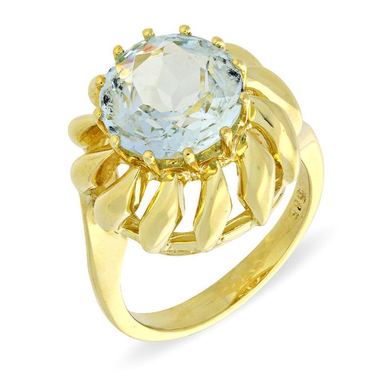 Aquamarin-Ring Gelbgold
