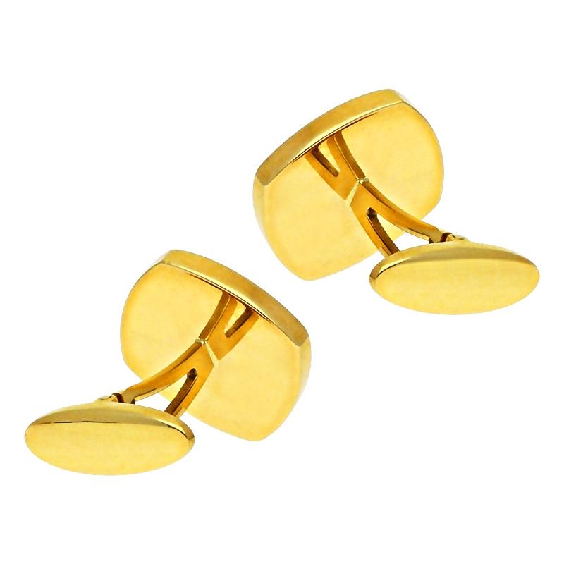 Manschettenknöpfe in Gelbgold