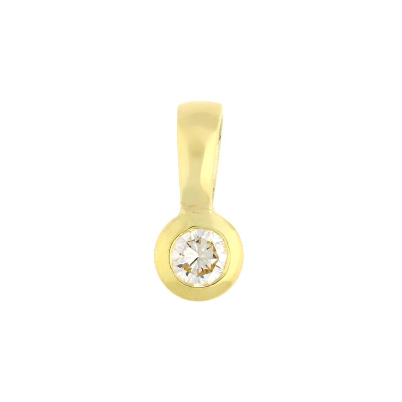Brillantanhänger Gelbgold