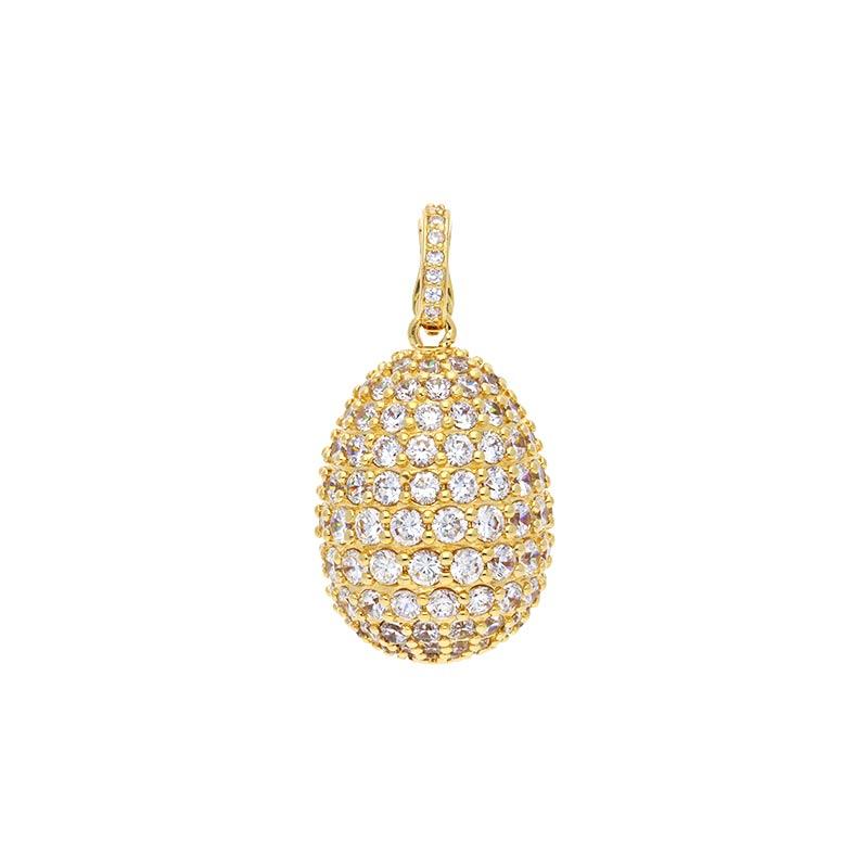 Zirkonia-Anhänger Silber, vergoldet
