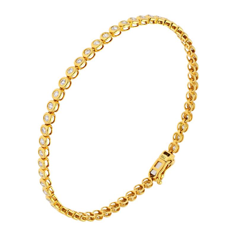 Tennisarmband Gelbgold