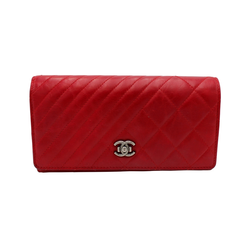 Chanel 'Wallet on Chane' Bordeaux-Rot