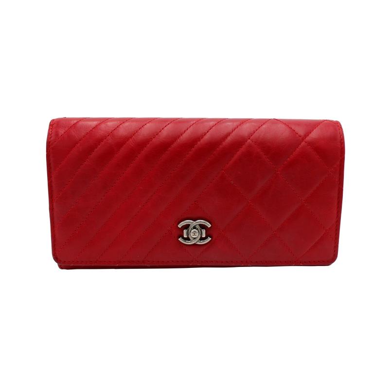 Chanel 'Wallet on Chane' Bordeaux-Rot