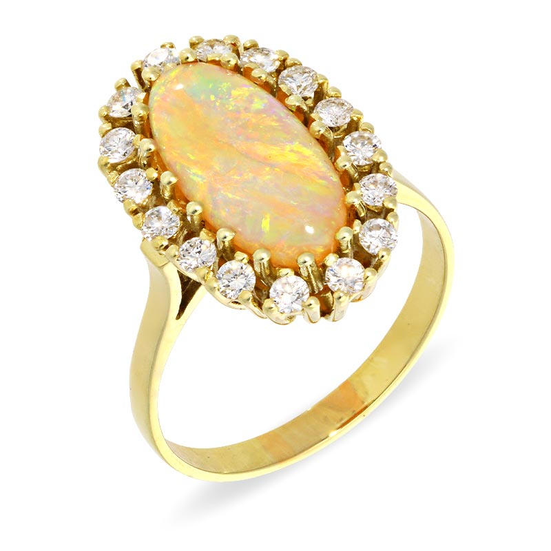 Opal-Ring Gelbgold