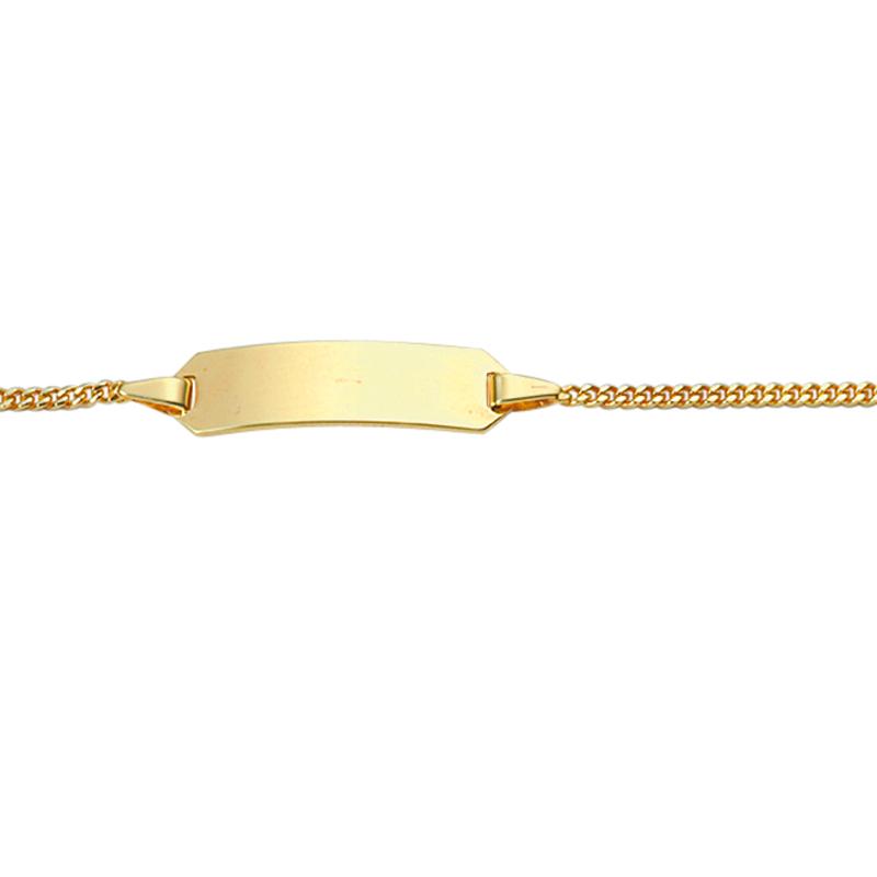 Armschmuck 333/-Gelbgold Länge: 14 cm, ID-Armband