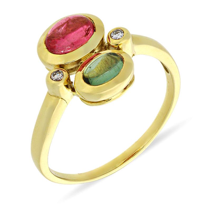 Turmalin-Ring Gelbgold