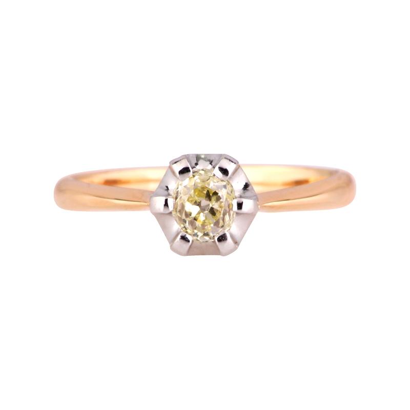 Diamant-Ring Bicolor
