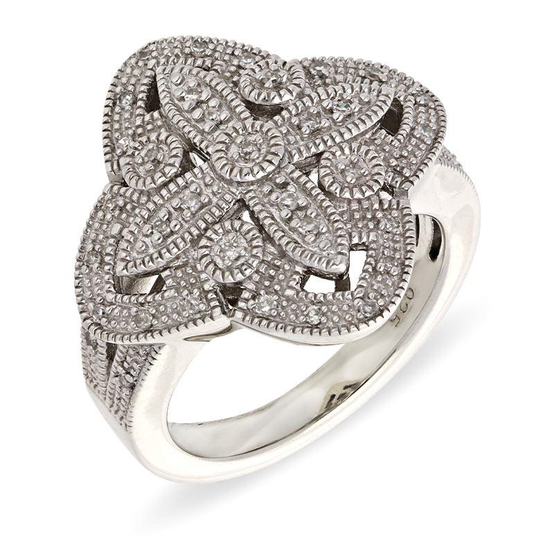 Diamant-Ring Silber