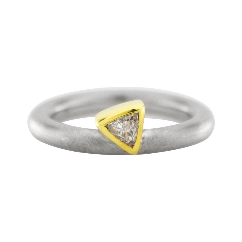 Diamantring Gelbgold/Platin