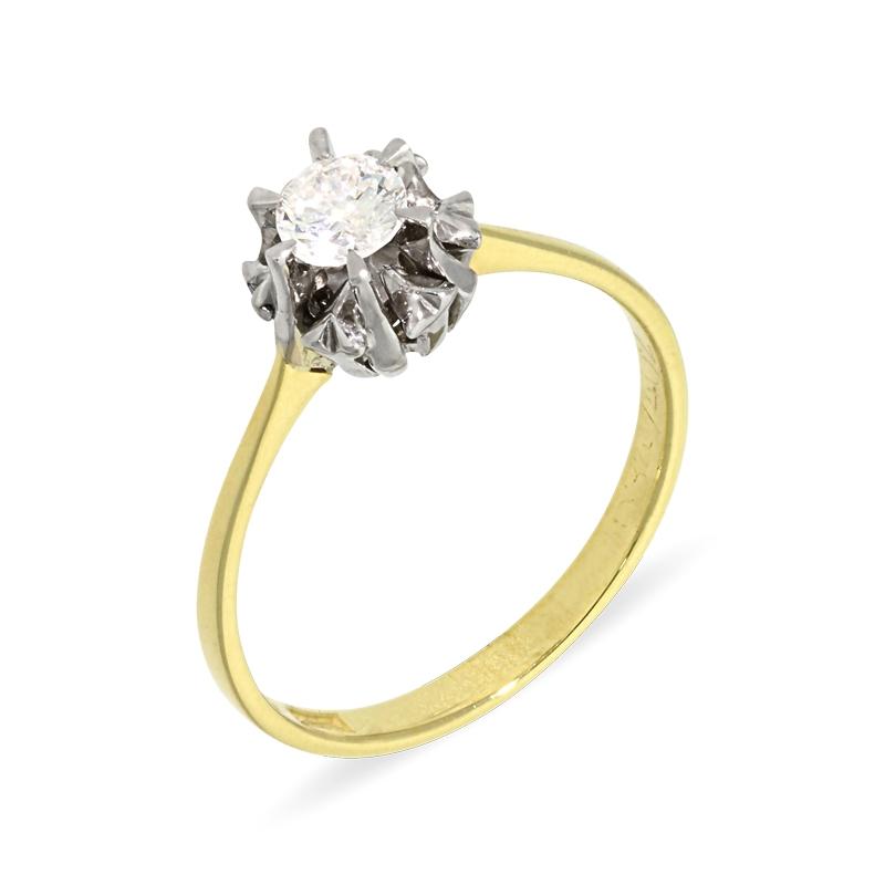 Brillant-Ring in Bicolor
