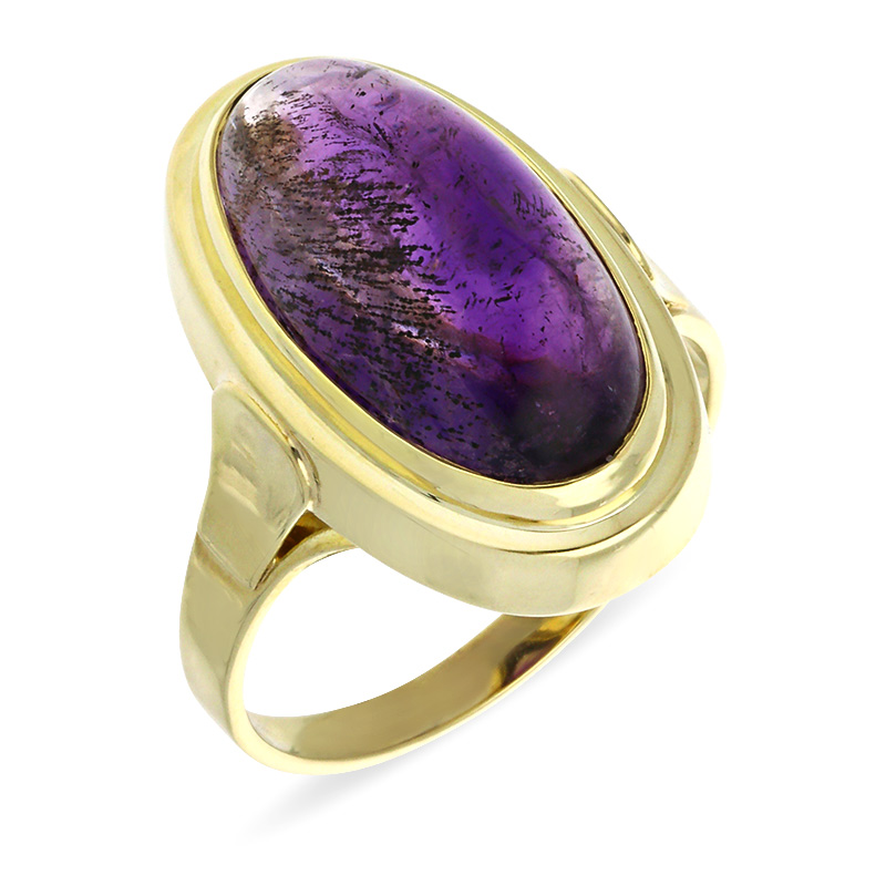 Amethyst-Ring Gelbgold