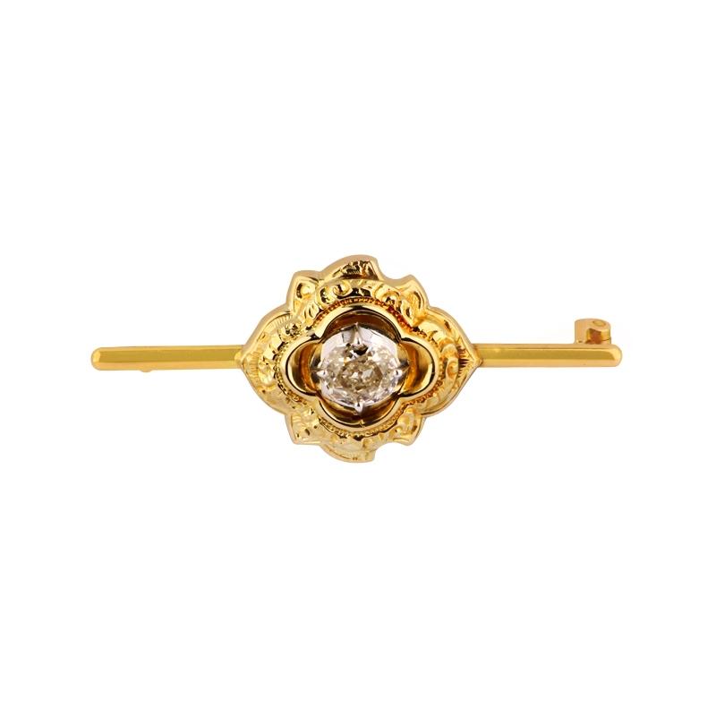 Diamantbrosche Gelbgold