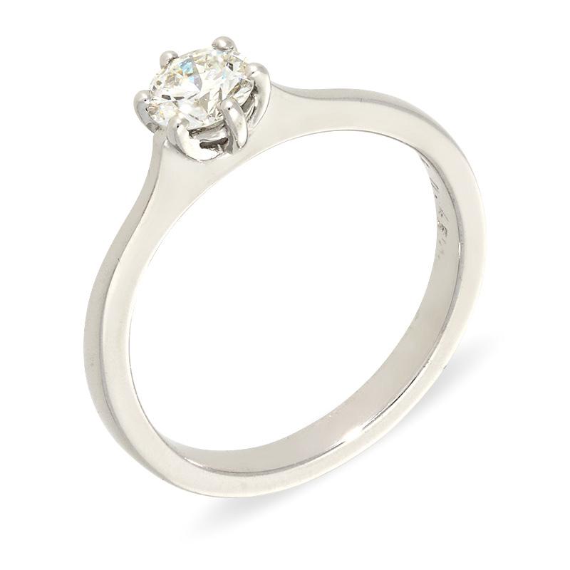 Brillant-Ring Weißgold 0,45 ct