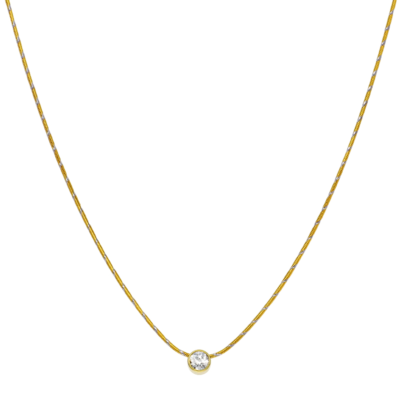 Diamant-Collier Gelbgold