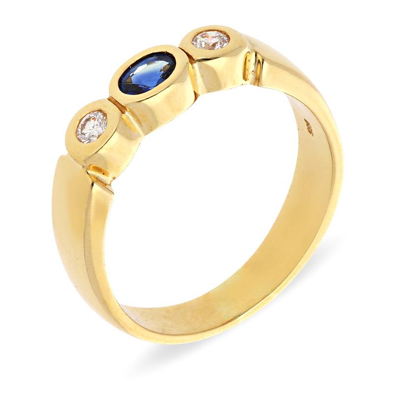 Safir-Ring Gelbgold