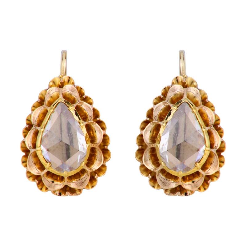 Diamant-Ohrhänger Gelbgold