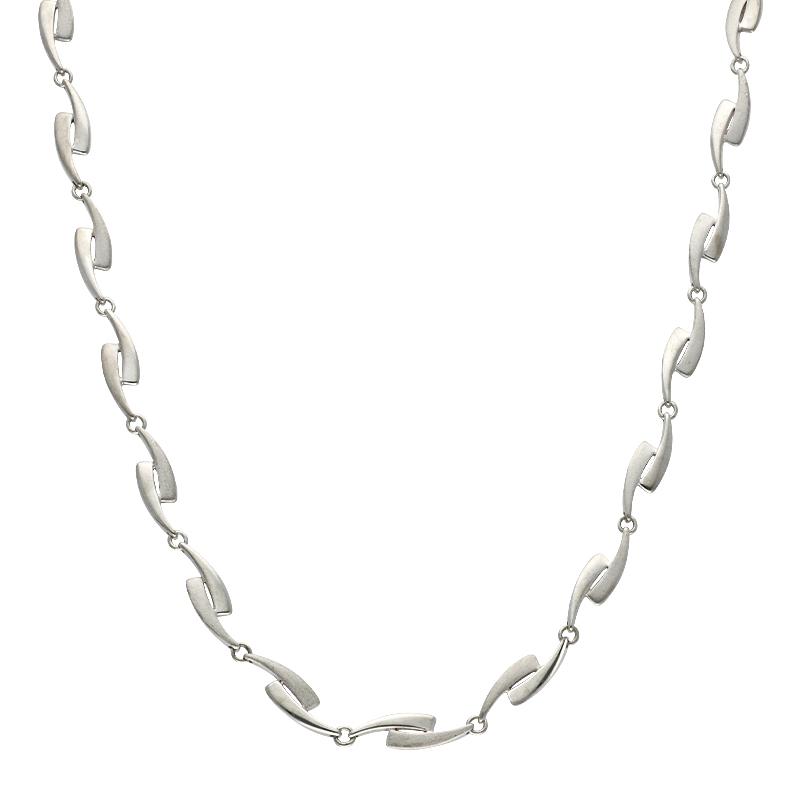 Fossil-Halsschmuck Silber