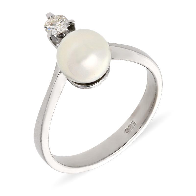 Perl-Ring Weißgold