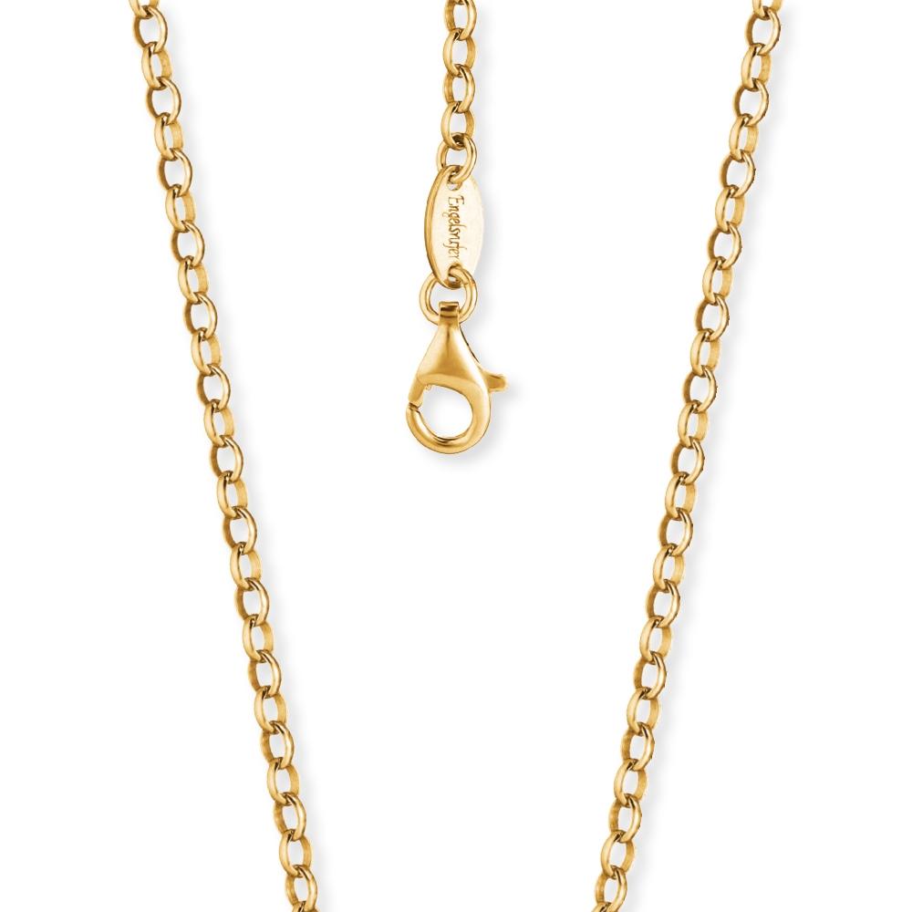 Kette Engelsrufer Silber, vergoldet 50 cm