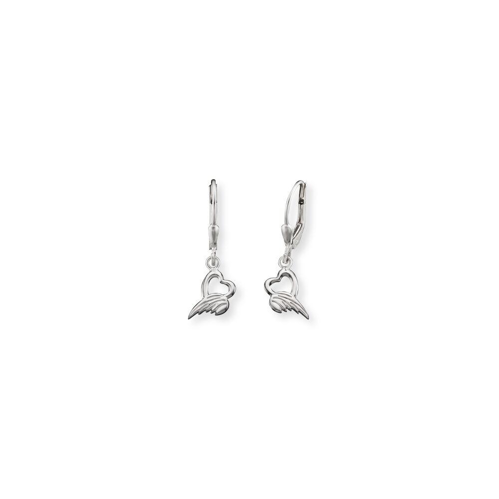 Herzengel Ohrhänger Silber