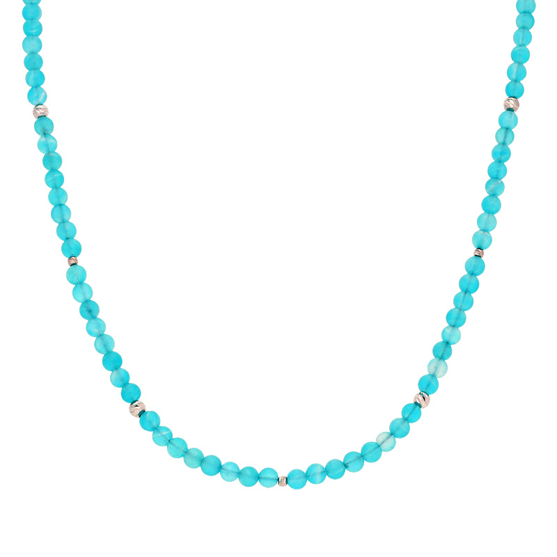 Amazonit-Kette Silber