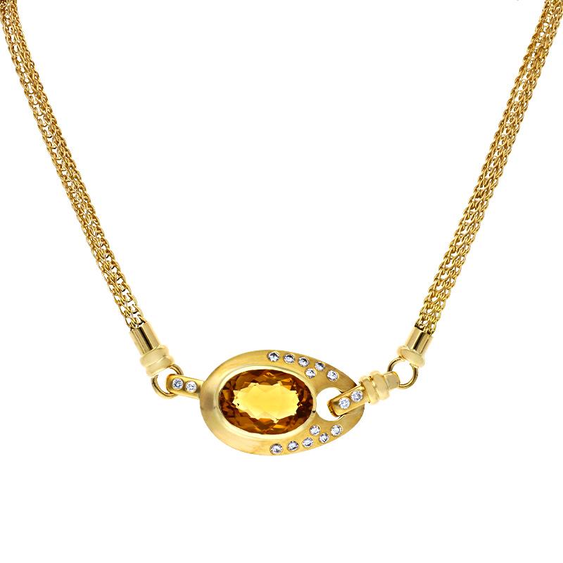 Citrin-Collier Gelbgold