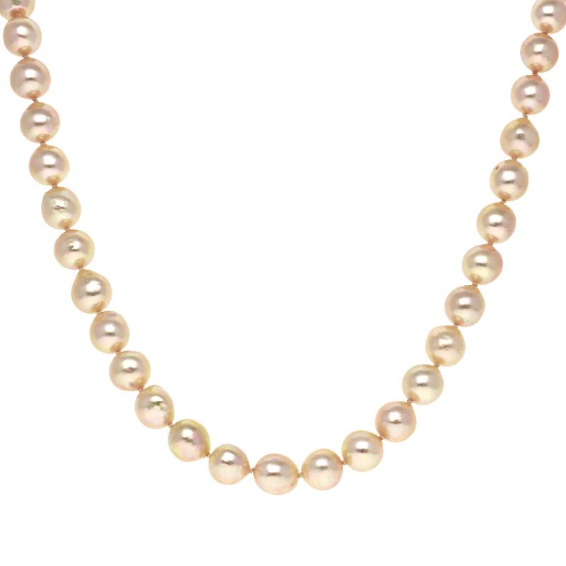 Perlkette Gelbgold