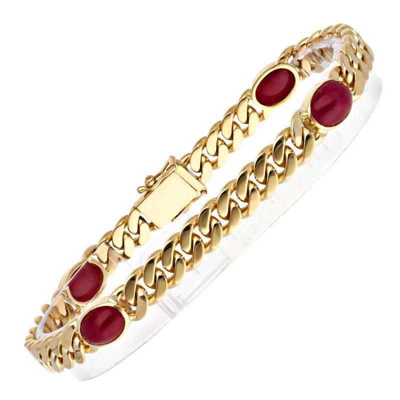 Rubin-Armband Gelbgold