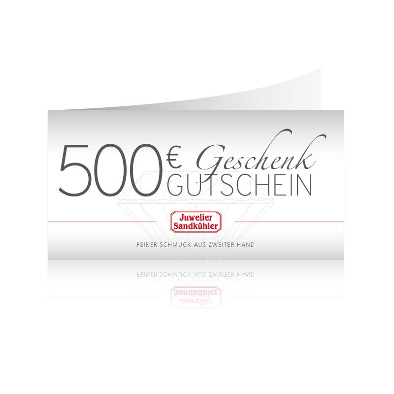 Geschenkgutschein 500 Euro