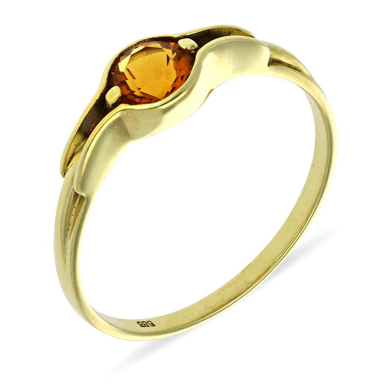 Citrin-Ring Gelbgold