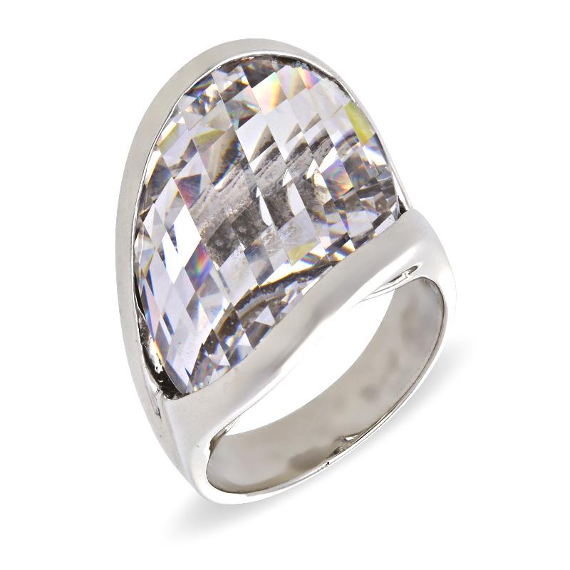 Bergkristall-Ring Silber