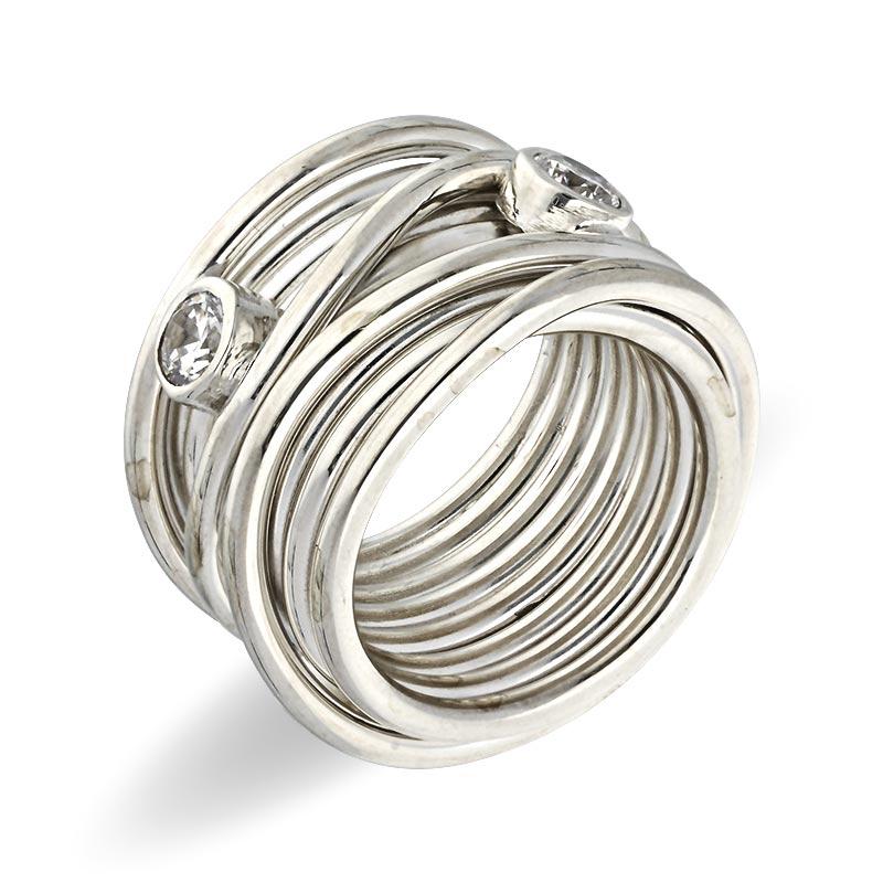 Zirkonia-Ring Silber