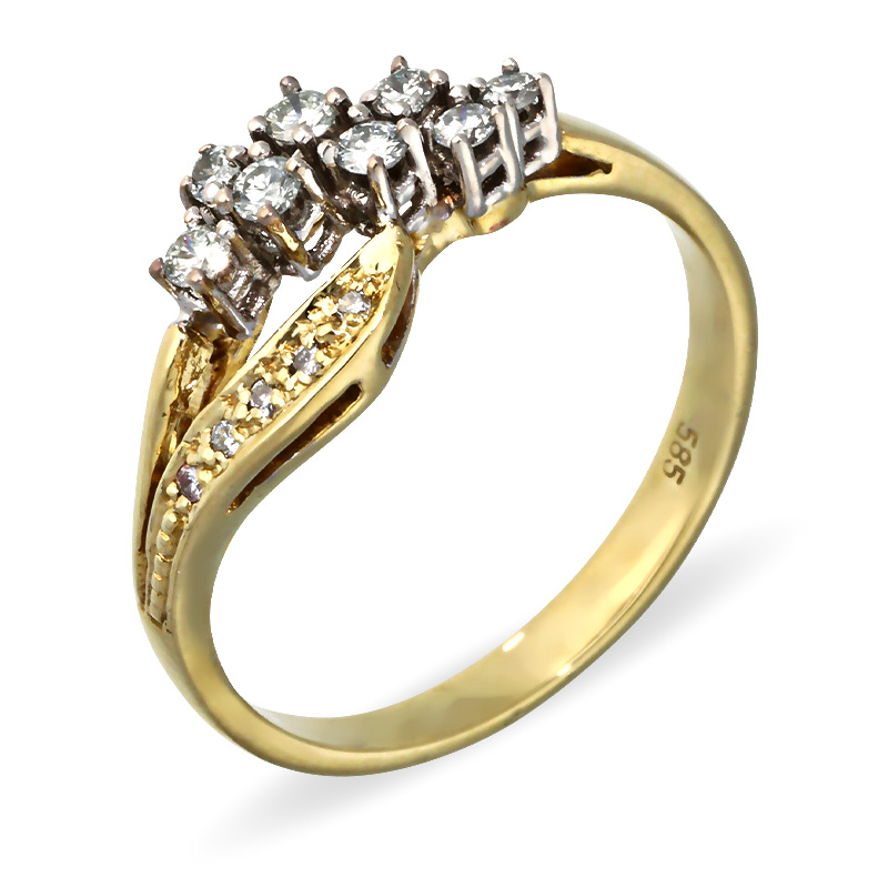Diamant-Ring Bicolor