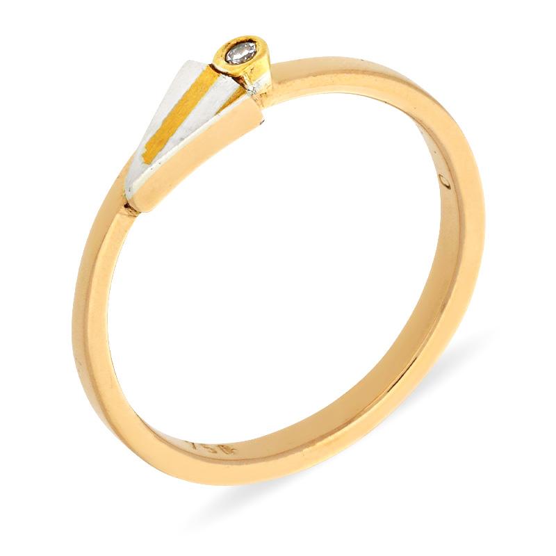 Brillant-Ring Bicolor