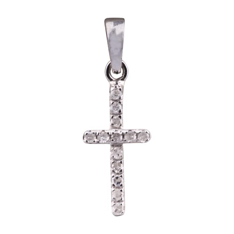 Kreuz-Anhänger mit Diamanten