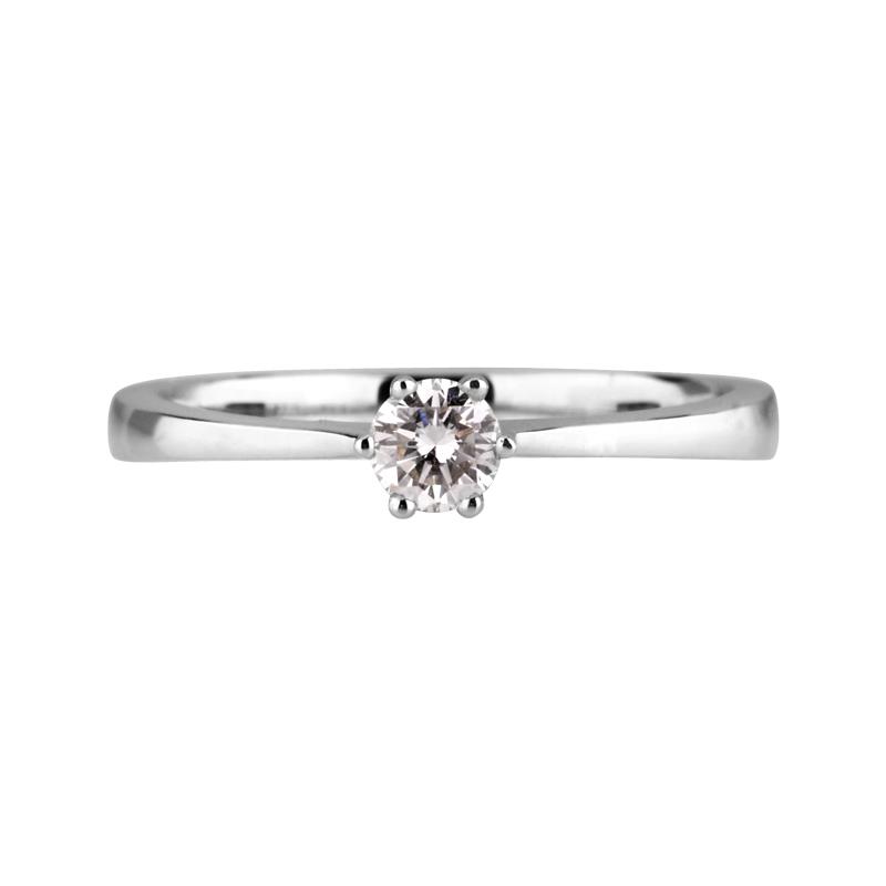 Brillant-Ring Weißgold 0,22 ct