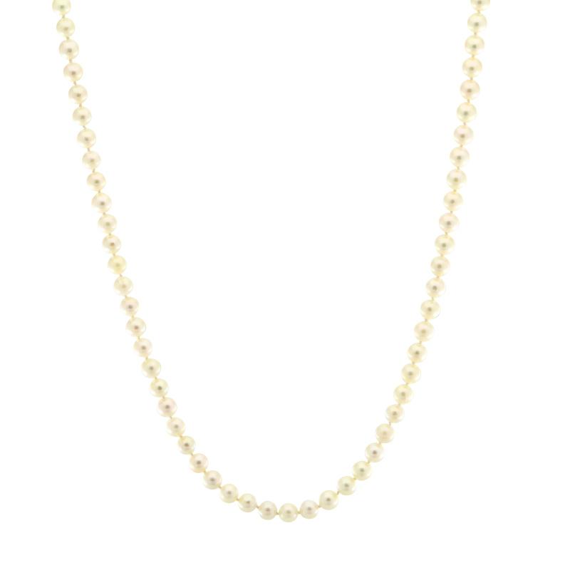 Perlkette mit Karabiner Gelbgold