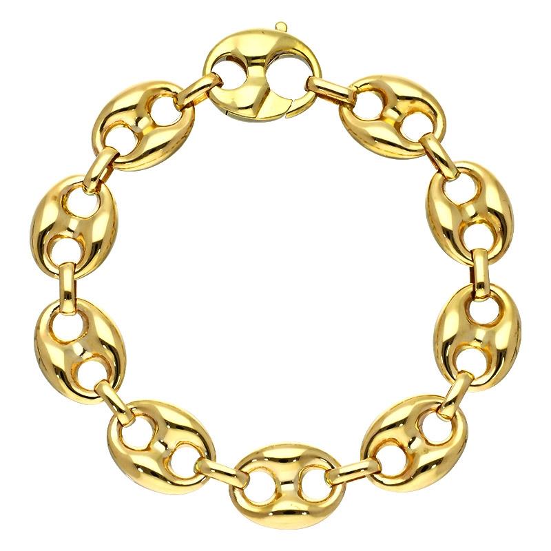 Schiffsanker-Armband Gelbgold