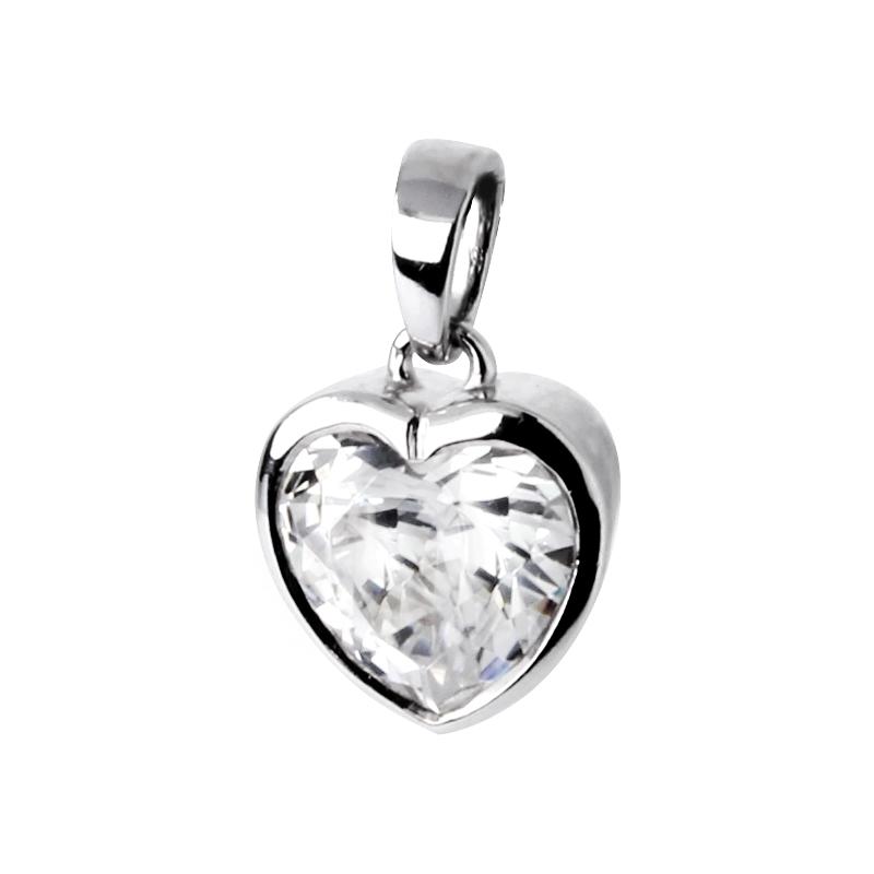 """Anhänger """"Herz"""" in Silber mit Zirkonia"""
