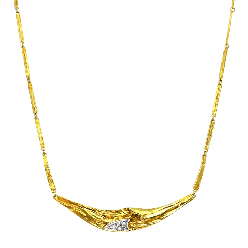 Brillant-Collier Gelbgold