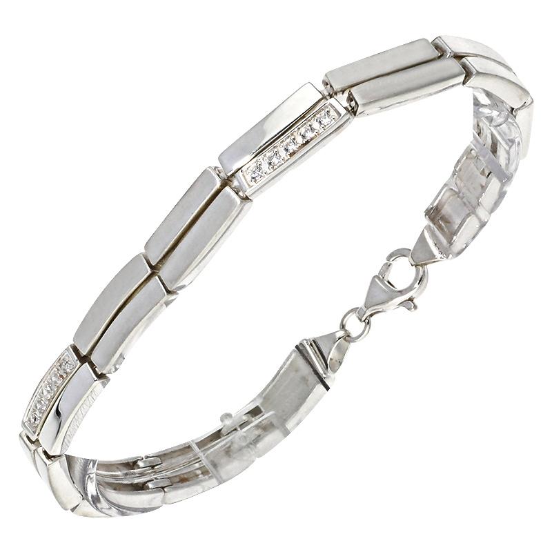 Zirkonia-Armband Silber