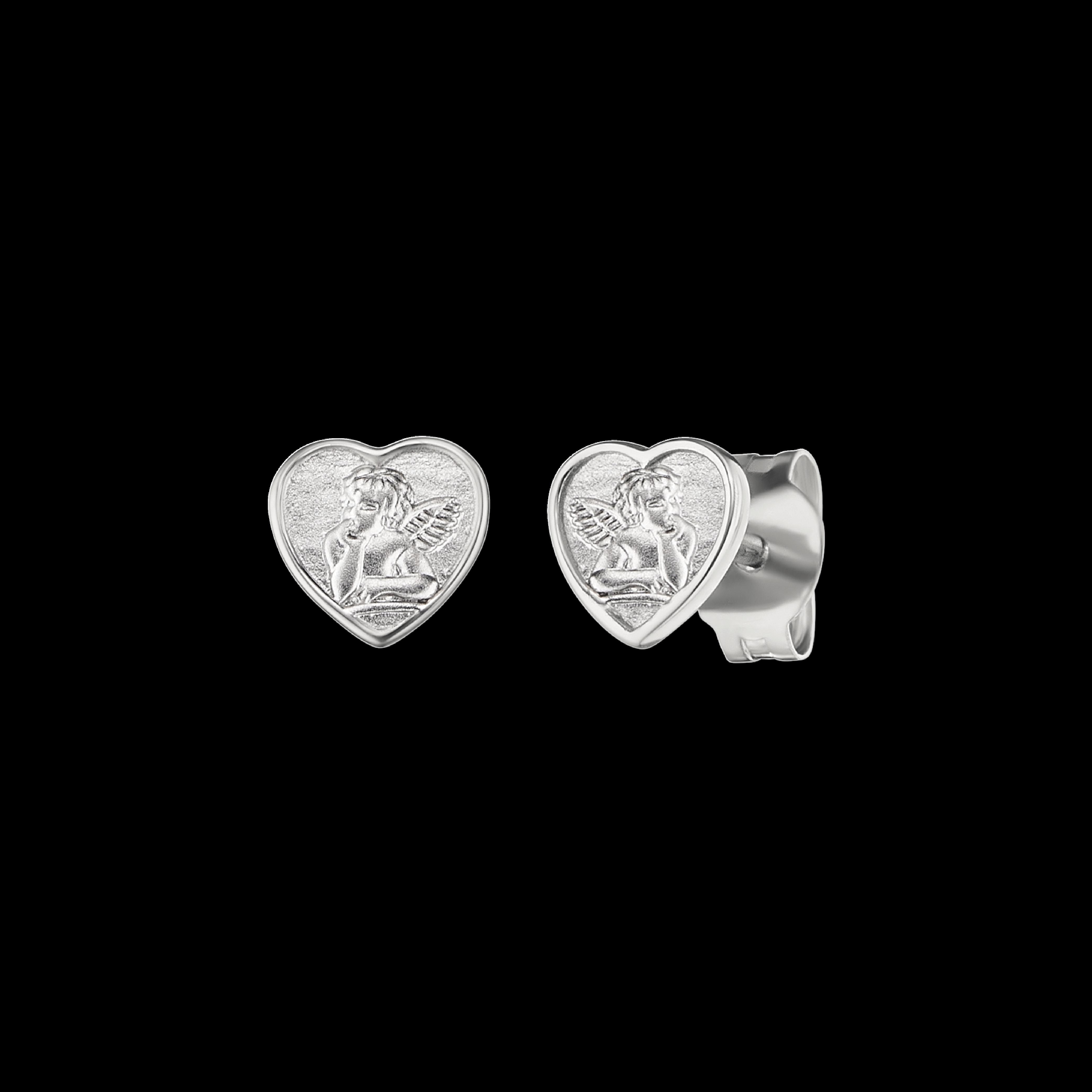 Herzengel Ohrstecker Silber