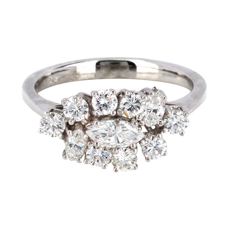 Ring in Weissgold mit Diamanten und Brillanten